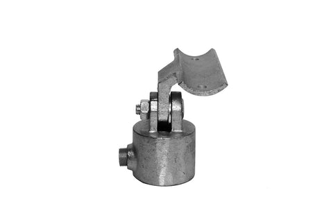 TC 756 - DDA Assist Swivel Offset Tee Handrail Bracket Galvanised TubeClamp Fitting by Solid Dynamics Australia
