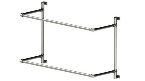 TC Project 883 - Wall Mounted Double Shelves Frame Tubeclamp Maleable Cast