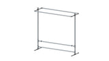 "TC 905.1 ""Jack & Daniel"" Double Clothes Rack 1.5m high x 1.5m long Tubeclamp Maleable Cast"