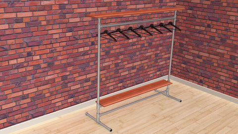 "TC 907.1 - ""Brent-ford"" Clothes Rack 1.5m x 1.5m long TubeClamp Fitting by Solid Dynamics Australia"
