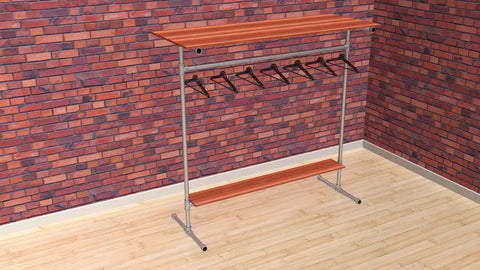 "TC 907.3 ""Hensley"" Clothes Rack 1.5m x 1.5m long TubeClamp Fitting by Solid Dynamics Australia"
