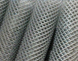 TC Chain Wire Fencing Chainlink Wire Mesh 50x50 2.5mm wire Galvanize TubeClamp Fitting by Solid Dynamics Australia