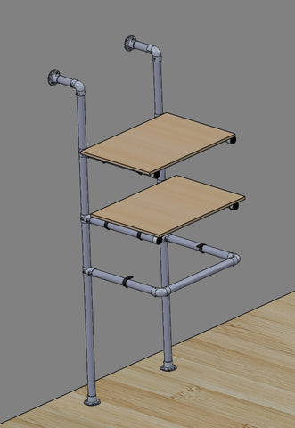TC 930 - Wall Mounted Shelf Tubeclamp Maleable Cast