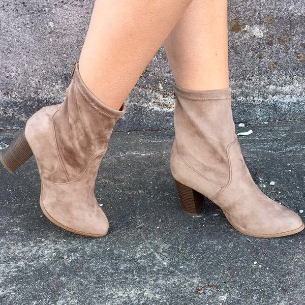 Encore Booties: Taupe