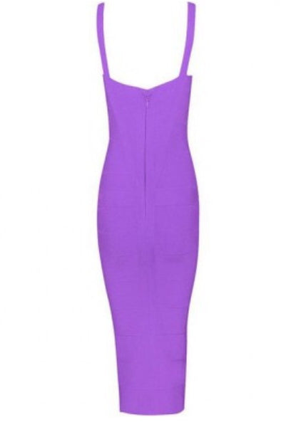Susan Valentines Purple Bandage Dress