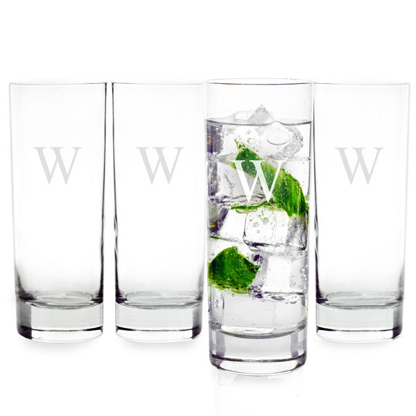 Personalized 12 oz. Mojito Cocktail Glasses (Set of 4)