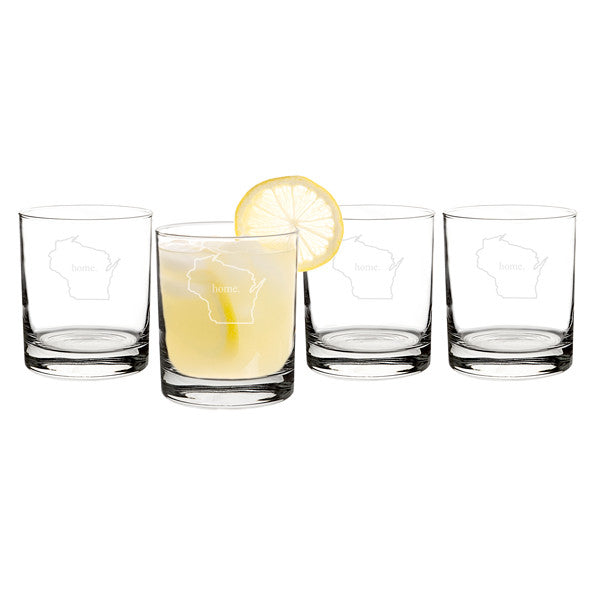 14 oz. Home State Drinking Glasses(Set of 4)