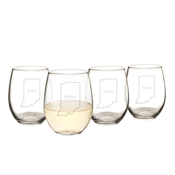 21 oz. Home State Stemless Wine Glasses (Set of 4)