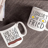 20 oz. Bacon & Eggs Large Coffee Mugs (Set of 2)
