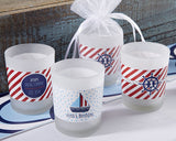 Personalized Frosted Glass Votive - Kate's Nautical Birthday Collection