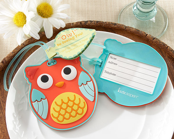 """Owl Be Seeing You"" Owl Luggage Tag"