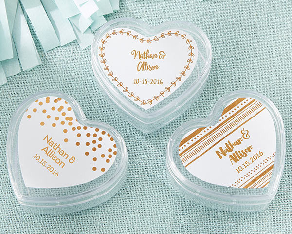 Heart Favor Container - Copper Foil (Set of 12)