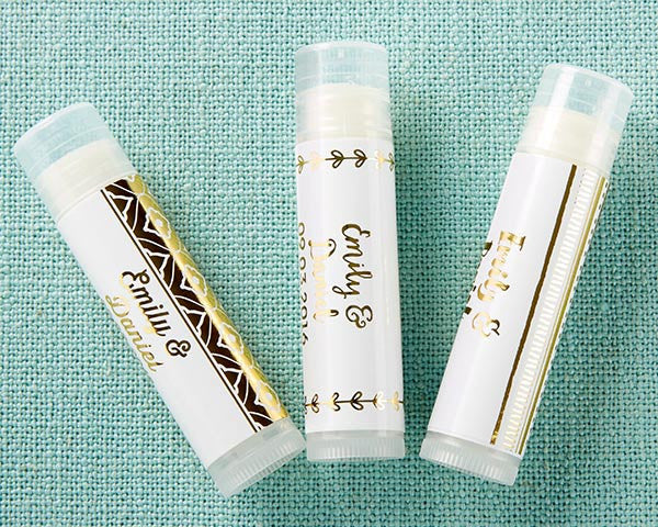 Personalized Lip Balm - Gold Foil (Set of 12)