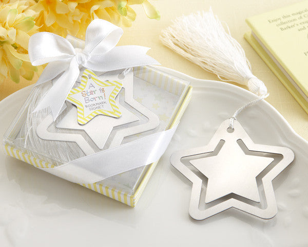 """A Star is Born!"" Metal Bookmark with White-Silk Tassel"