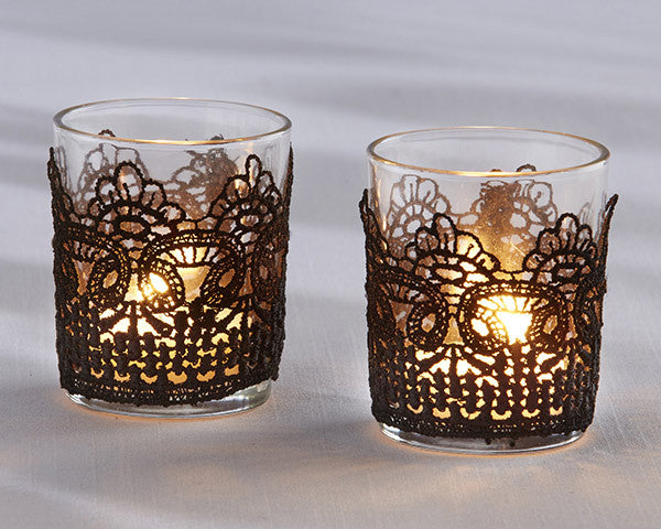 Black Lace Tea Light Holder (Set of 4)