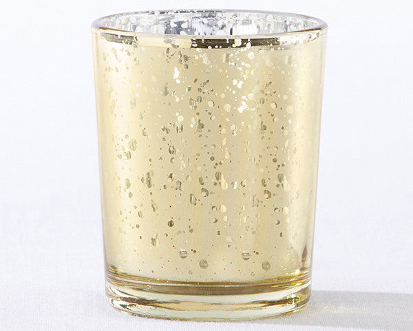 Gold Mercury Glass Tea Light Holder (Set of 4)