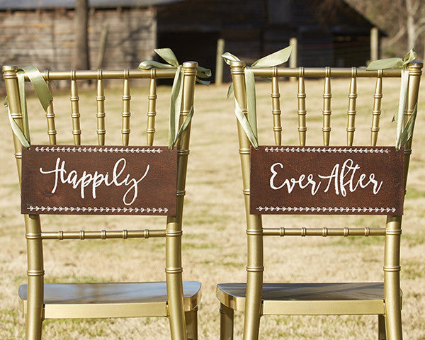 Happily Ever After Chair Signs