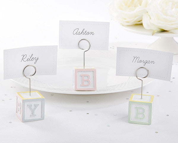 Baby Blocks Favor Place Card Holders (Set of 6)