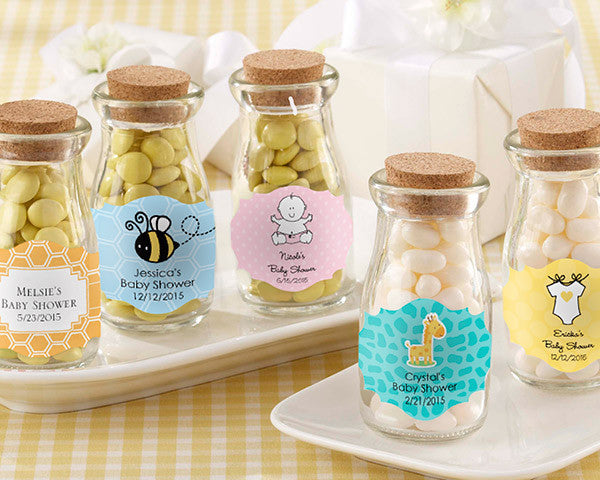 """Vintage"" Milk Bottle Favor Jar - Baby (Set of 12) (Available Personalized)"