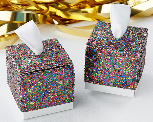 Multicolor Glitter Favor Box (Set of 24)