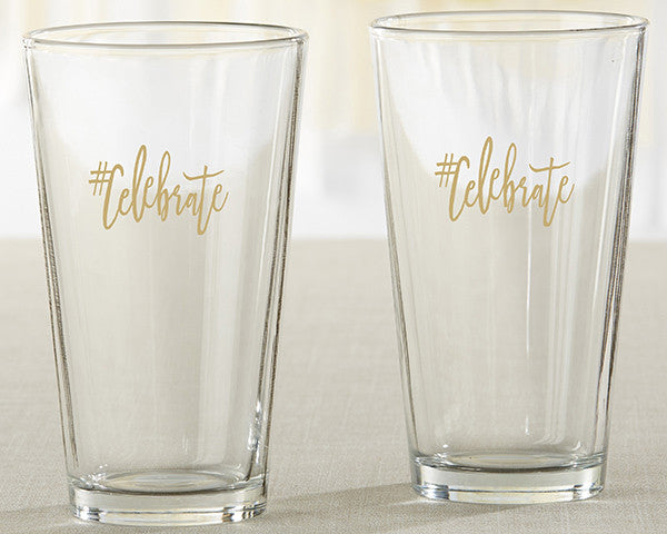 #Celebrate 16 oz. Pint Glass (Set of 4)