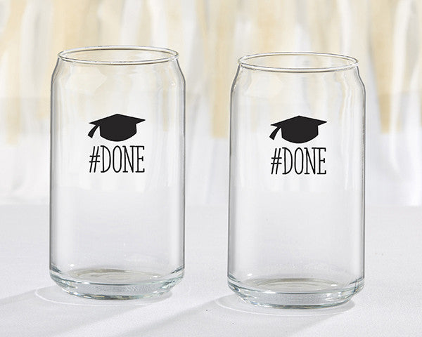 #Done Graduation 16 oz. Can Glass (Set of 4)