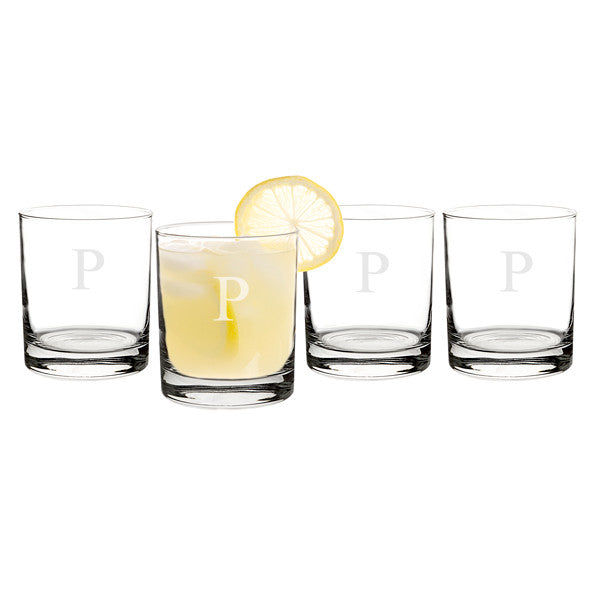 Personalized 14 oz. Drinking Glasses (Set of 4)