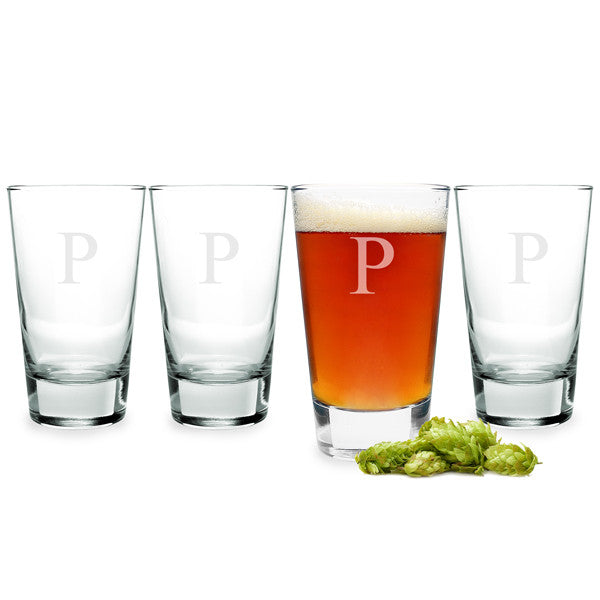 Personalized 16 oz. Pint Glasses (Set of 4)