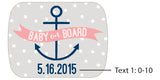 Personalized Bottle Opener with Epoxy Dome - Kate's Nautical Baby Shower Collection