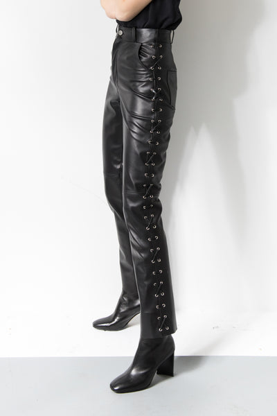 Tosca High-rise Leather Pant