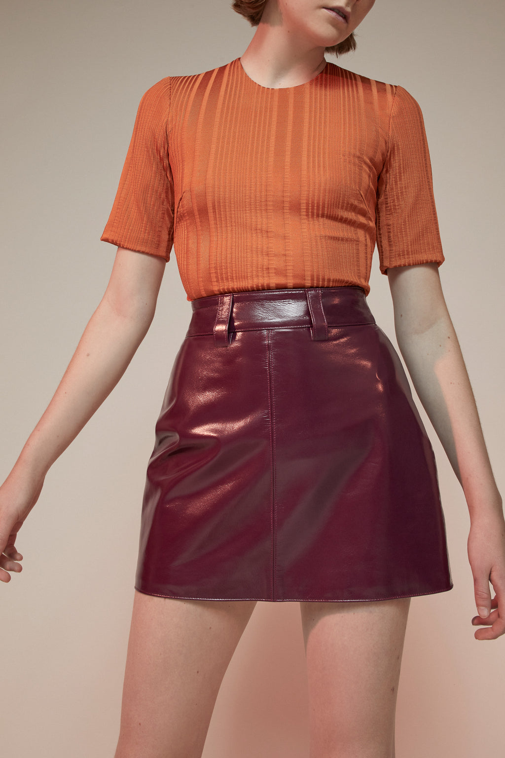 """Lola"" Leather Miniskirt"