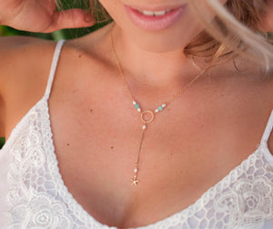 Darli Y Necklace * Fresh Water Pearl * Gold Filled * BJN084