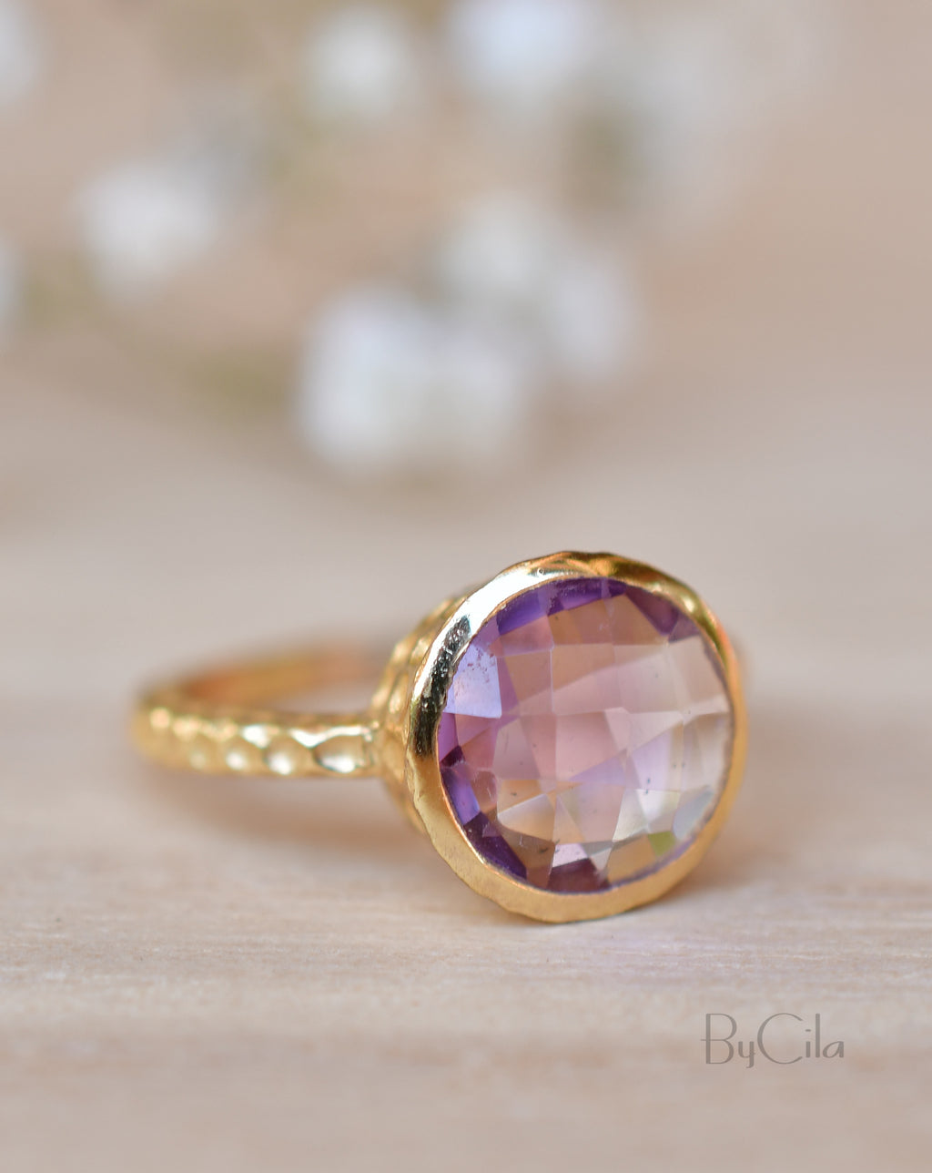Marcela Ring * Amethyst * Gold Plated 18k * SBJR111