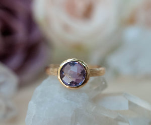 Leticia Ring * Amethyst * Gold Plated 18k * SBJR121
