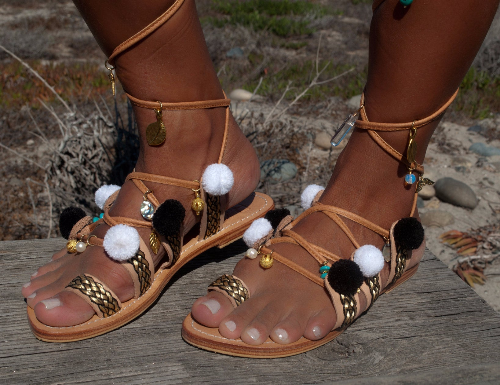 July Gold Gems Sandals