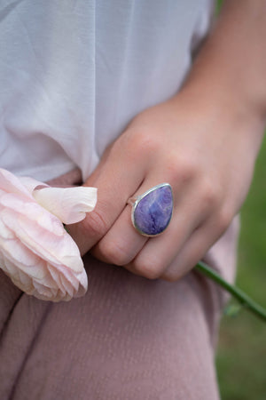 Jussiara Ring * Purple Charoite * Sterling Silver 925 *