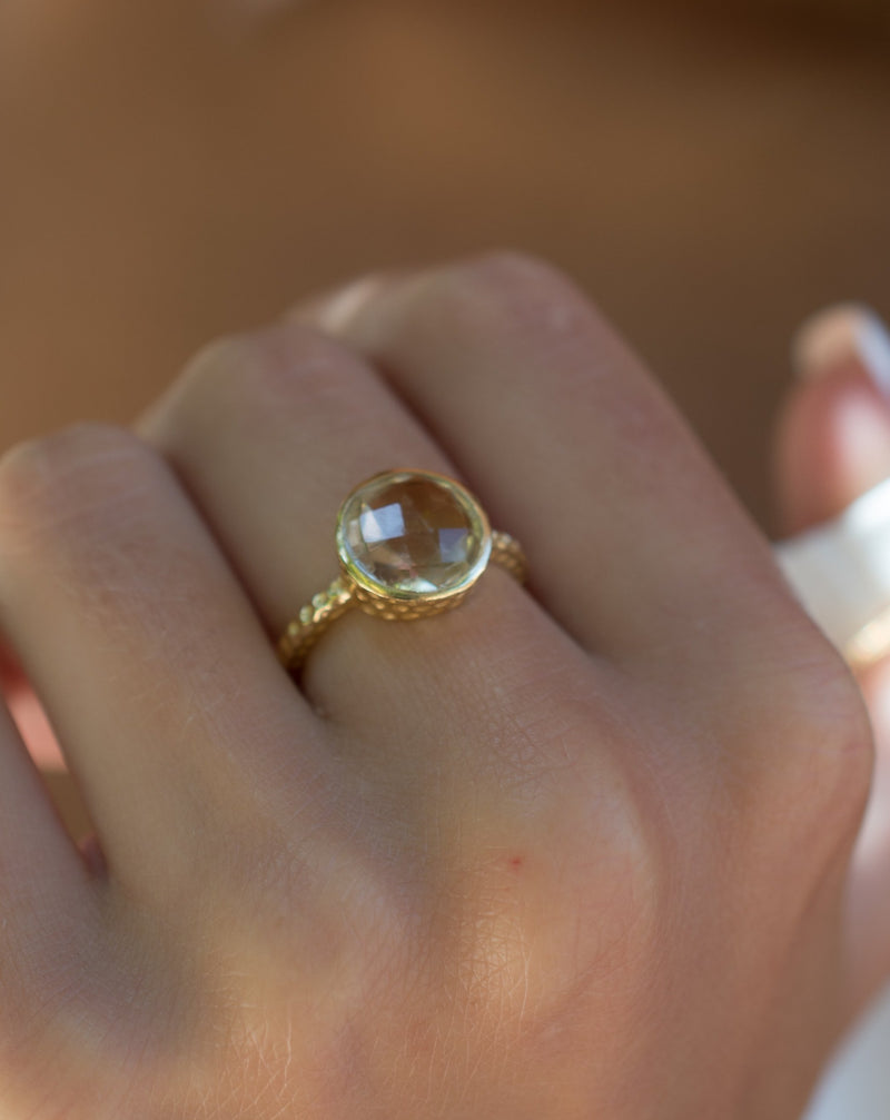 Marcela Ring * Yellow Topaz Hydro * Gold Plated 18k * SBJR109