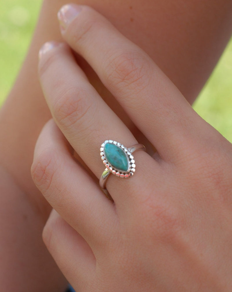 Maresias Ring - Blue Topaz, Moonstone, Garnet, Peridot and Turquoise