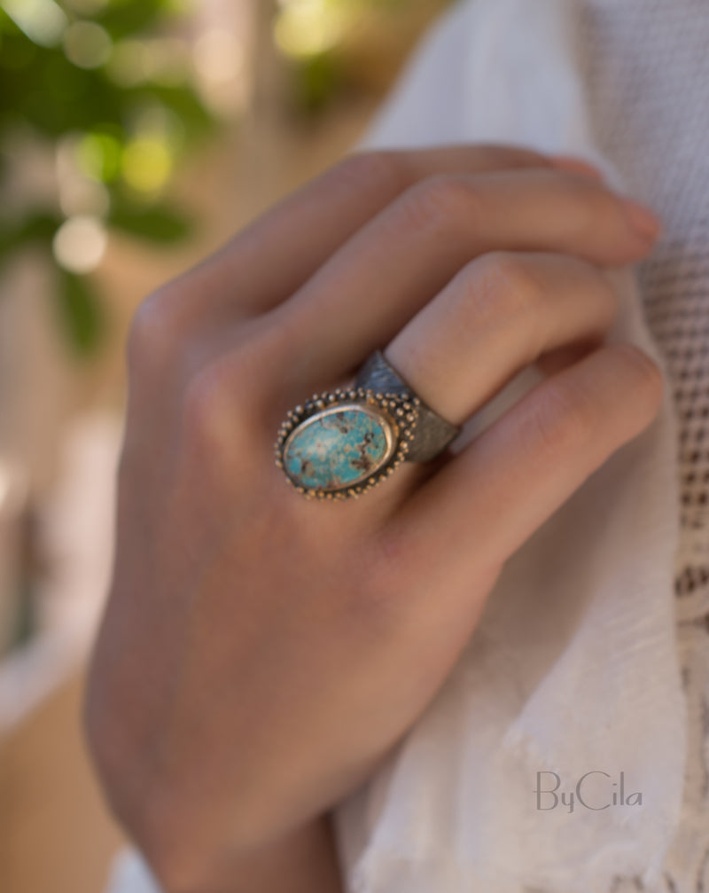 Clari Ring * Turquoise * Sterling Silver 925 * SBJR003
