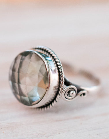 Libby Meditation Ring - Moonstone (BJS032)