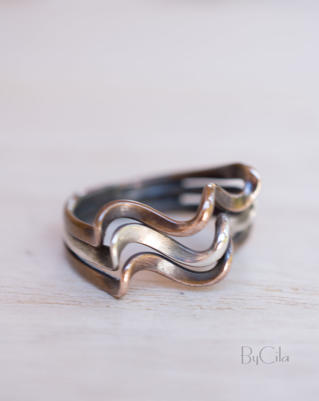 Beren Ring  * Sterling Silver 925 & Bronze * SBJR025