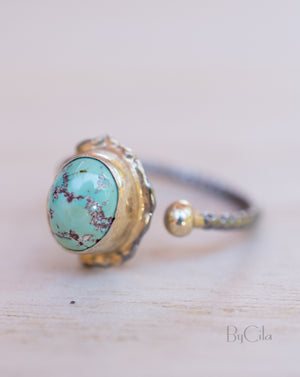 Darci Ring * Turquoise * Sterling Silver 925 * SBJR005