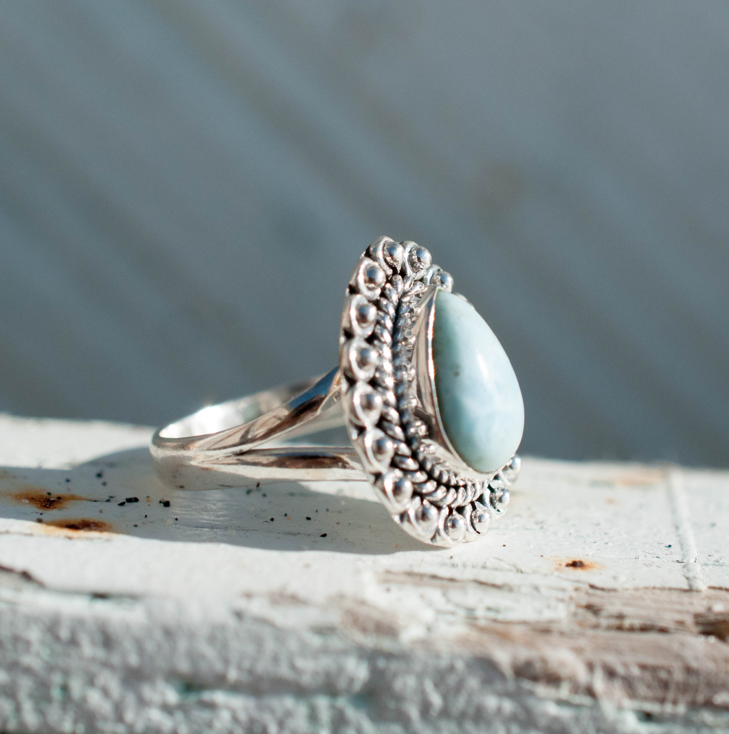 Grandview Larimar Ring (MR020)
