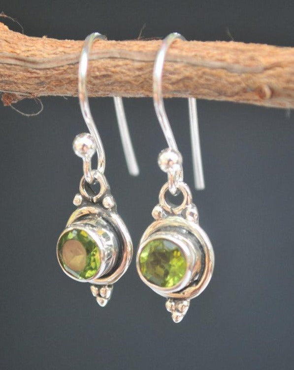 Katlyn Earrings * Peridot * Sterling Silver * BJE029