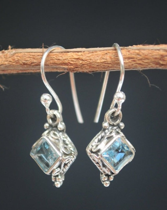 Cloe Earrings * Blue Topaz * Sterling Silver 925 * BJE030