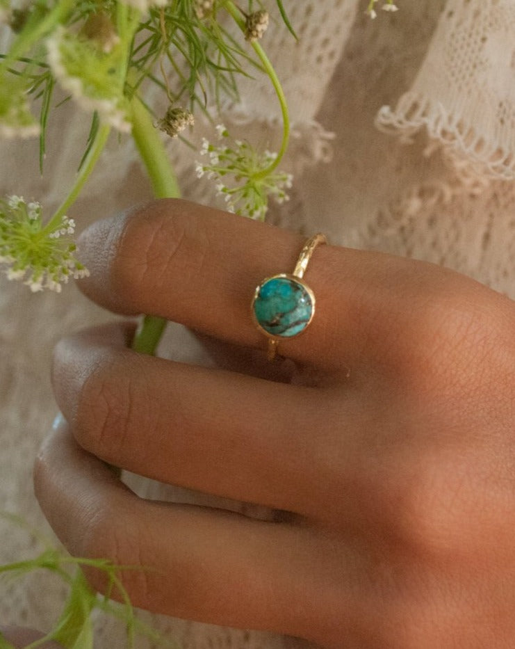 Bianca Turquoise Ring - Gold Vermeil  (BJR008)