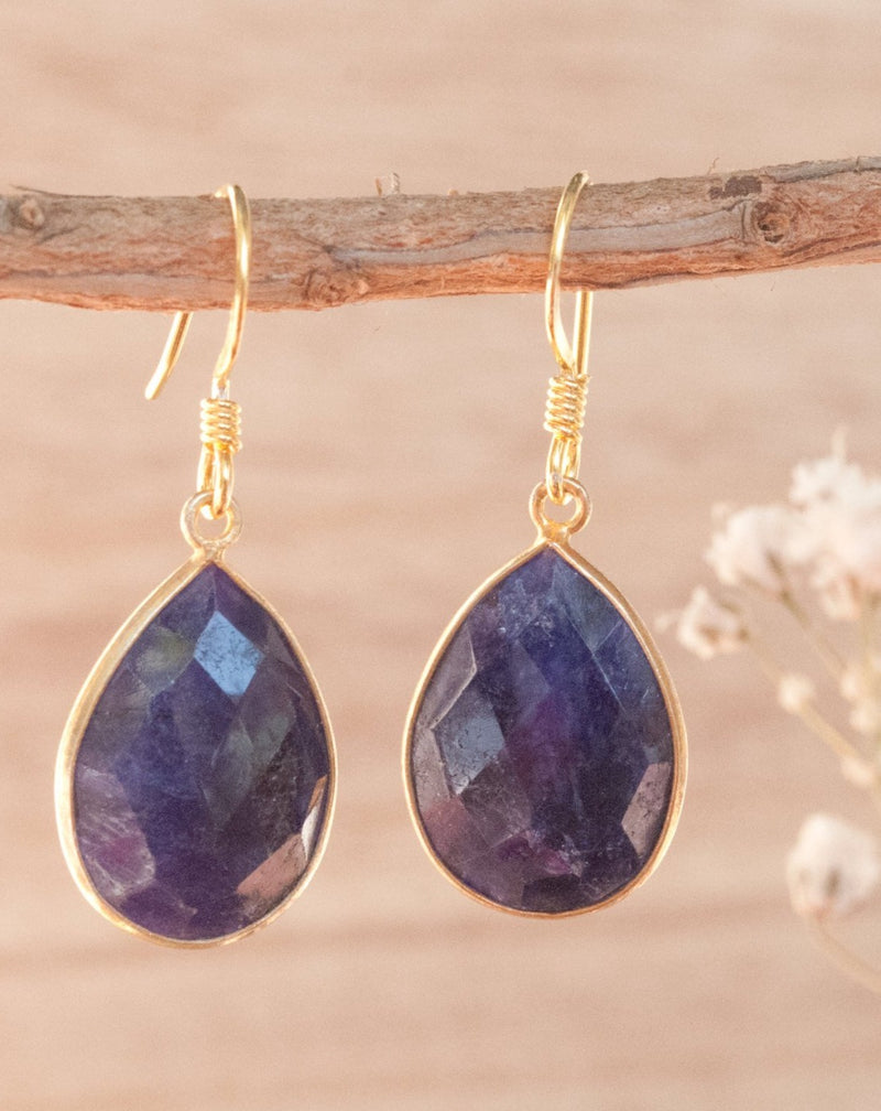 Celina Earrings * Lapis Lazuli * Gold Vermeil * BJE143-11