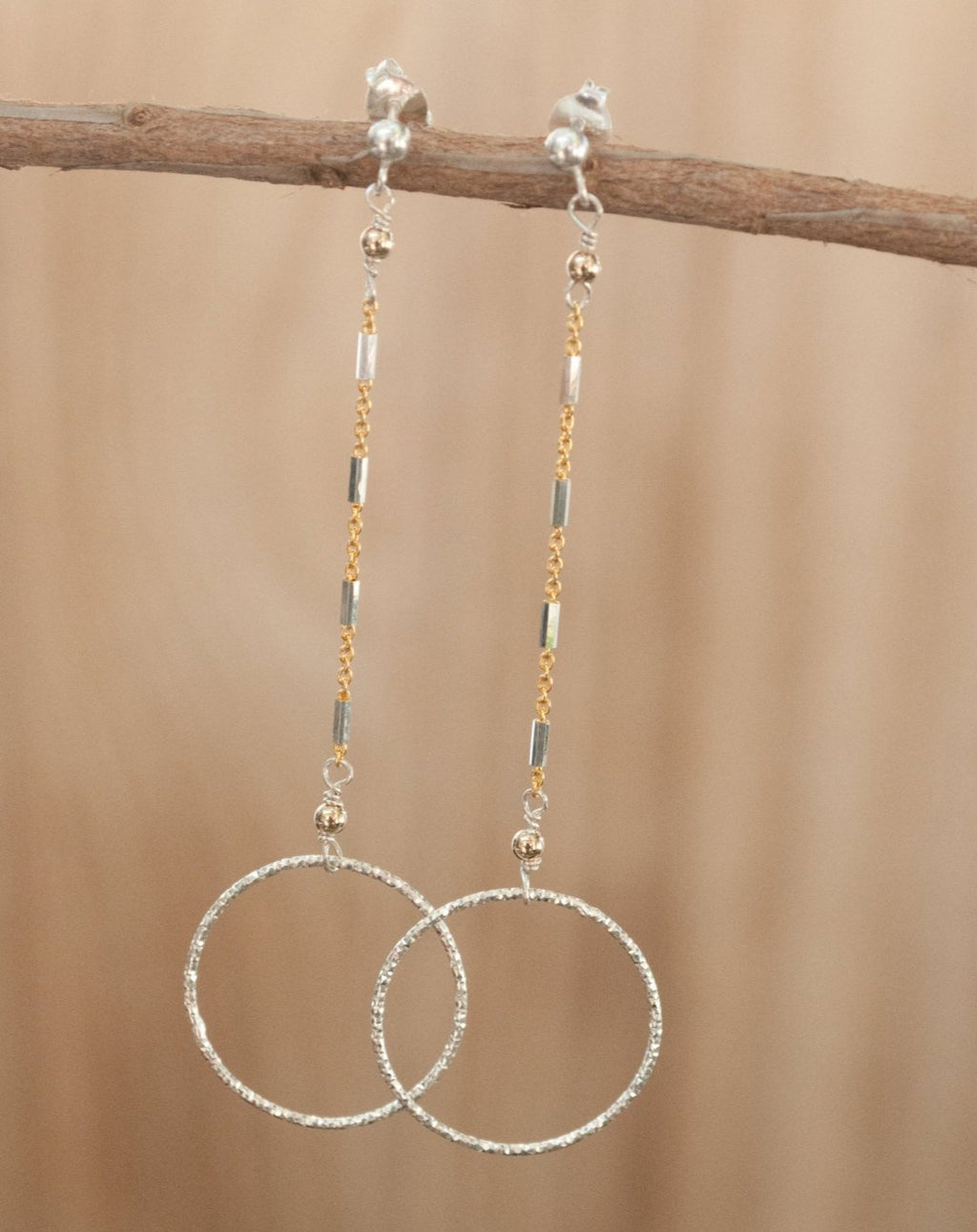 Lawren Earrings * Sterling Silver and Gold Vermeil * BJE123