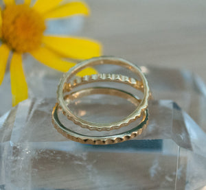 Thin Gold Vermeil Ring* Stackable Ring* Delicate * Simple * Everyday * Gift for her *Hippie * Boho *Thin gold band * Stack BJR184B