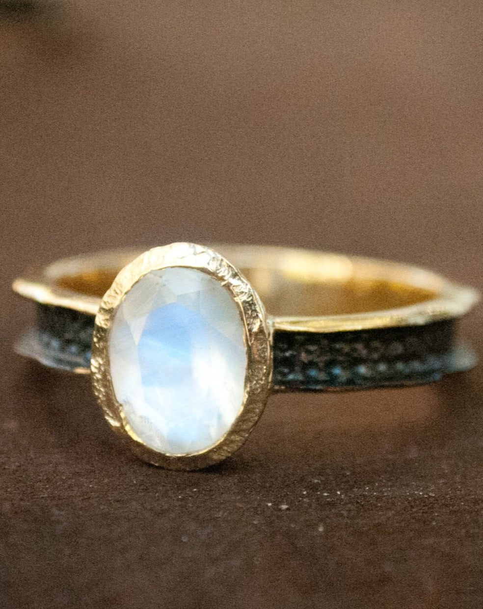 Moonstone Ring * Aqua * Statement Ring *Mix Metals Ring *Gold Ring * Boho * Jewelry * Bycila * Bohemian * BJR045